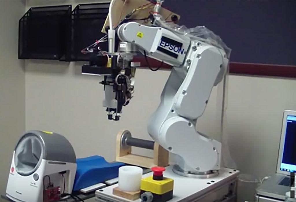 Blood taking robotic machine