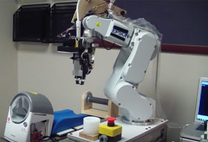 Blood taking robotic machine