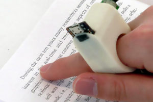Finger Reader device for visual impairment