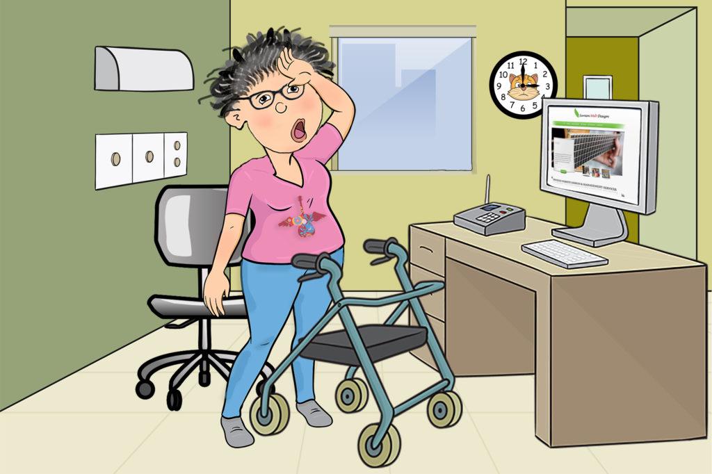 frustration cartoon