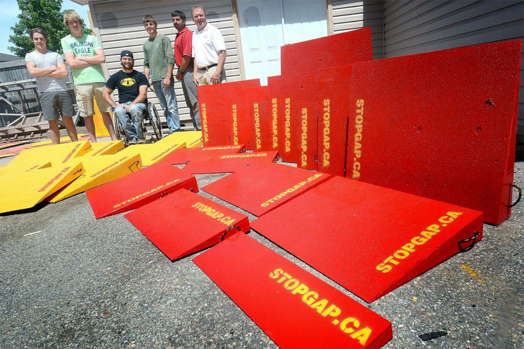 Strop Gap portable ramps for wheelchairs