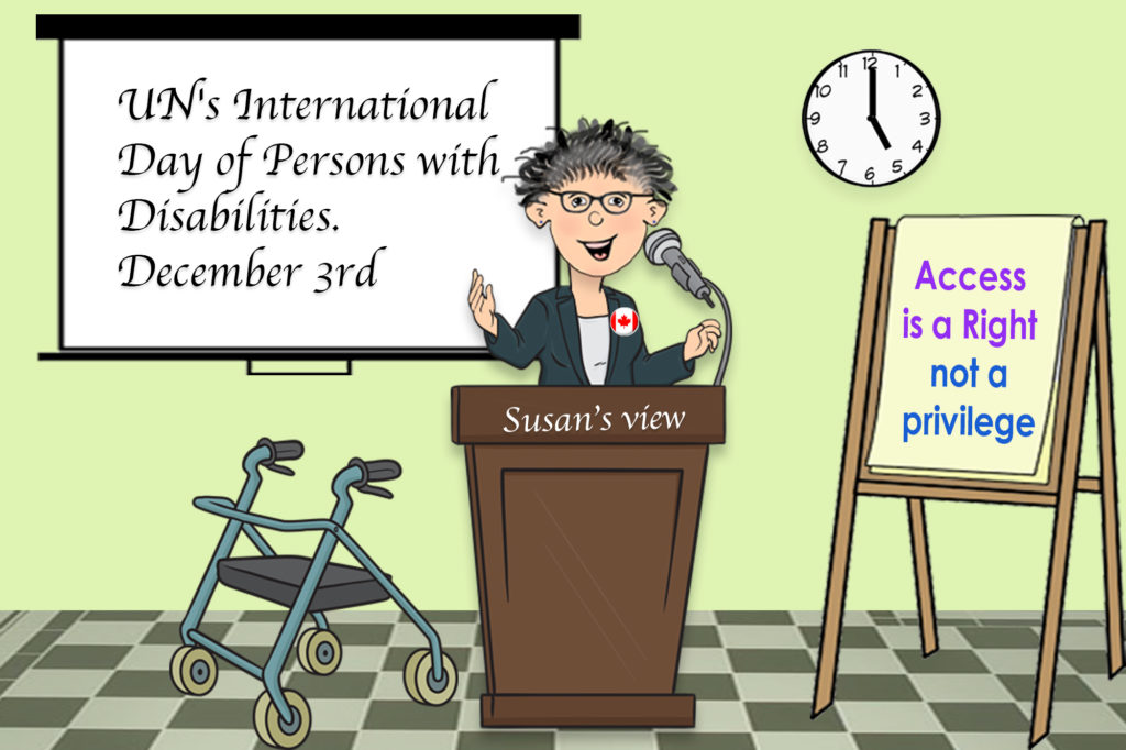 Cartoon speaker on disability pride